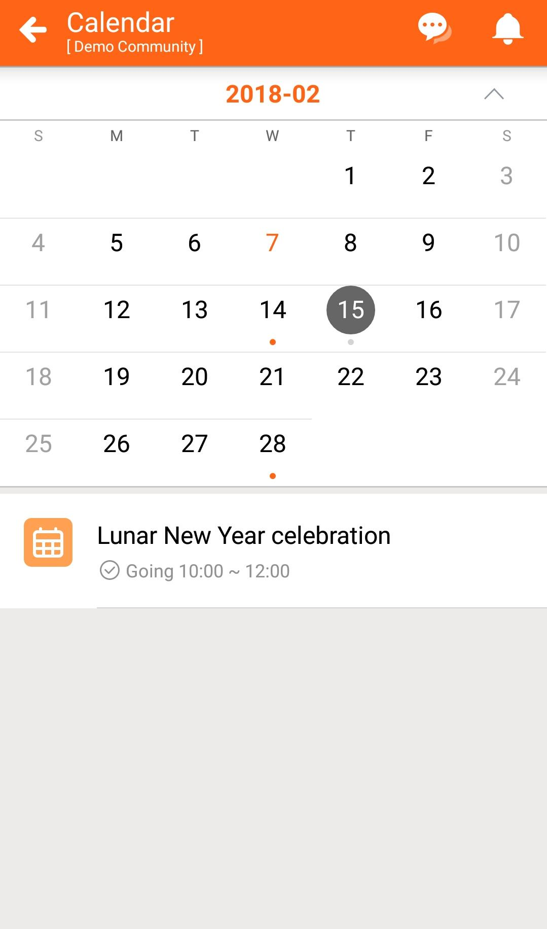 BuddyDo, Dashboard, Calendar